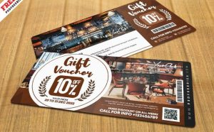 Cafe Lounge Free Gift Voucher (PSD)