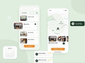 CafeFinder Free App XD Template