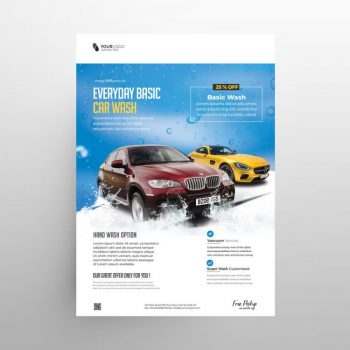 Car Wash Ad Free Flyer Template (PSD)