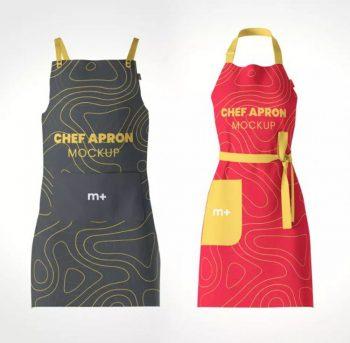 Chef Kitchen Apron Free Mockup