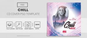 Chill Music Free CD/Mixtape Cover Template (PSD)