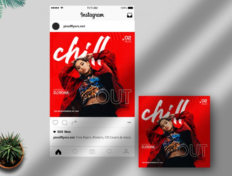 Chill Night Free Instagram Template (PSD)