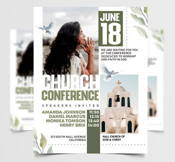 Church Conference Free PSD Flyer Template