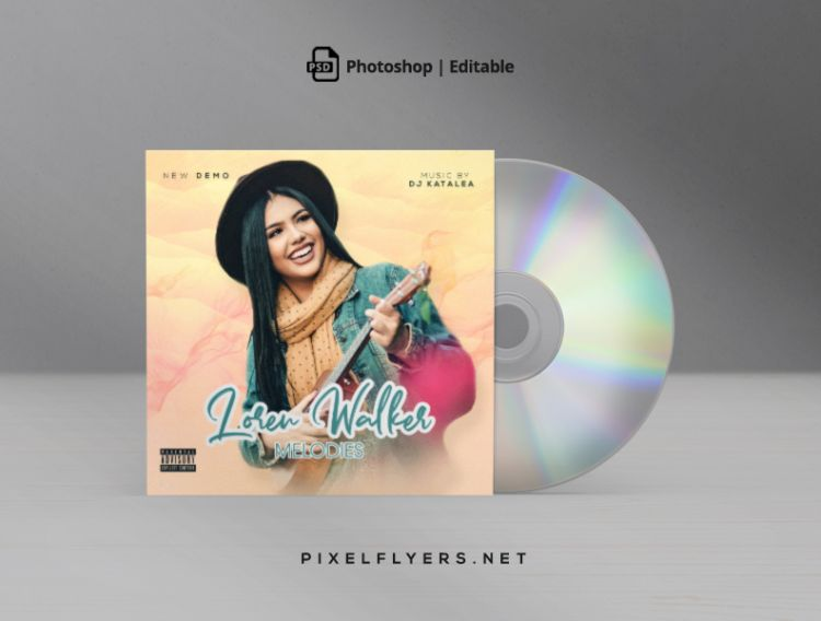 Classic Melody Free Mixtape CD Cover Template (PSD)
