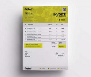 Clean Invoice Free Template