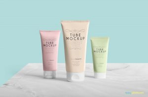 Clean Packaging Tube Free Mockup