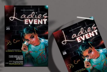 Club & Party Free Flyer Template (PSD)