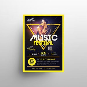 Concert Event Free Flyer Template (PSD)