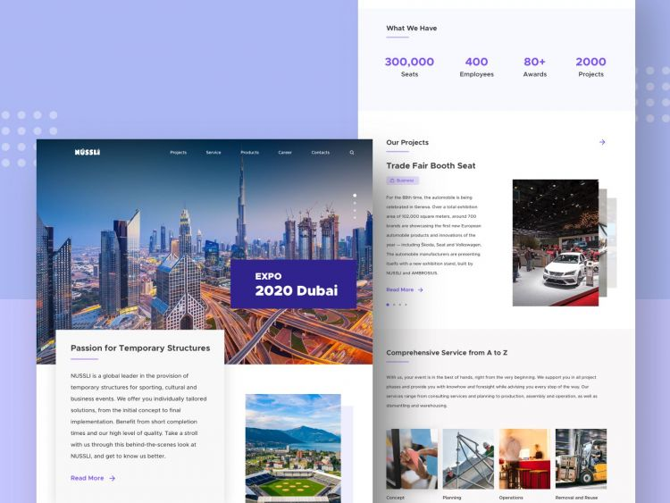 Construction Free Website Landing Page (Sketch)
