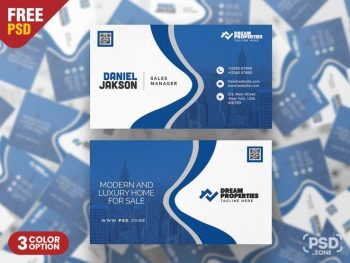 Corporate Business Card Free PSD Template (v5)