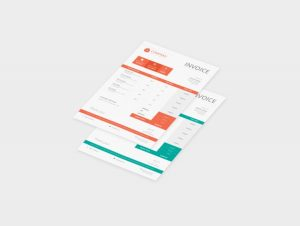 Corporate Free Invoice Template (PSD)