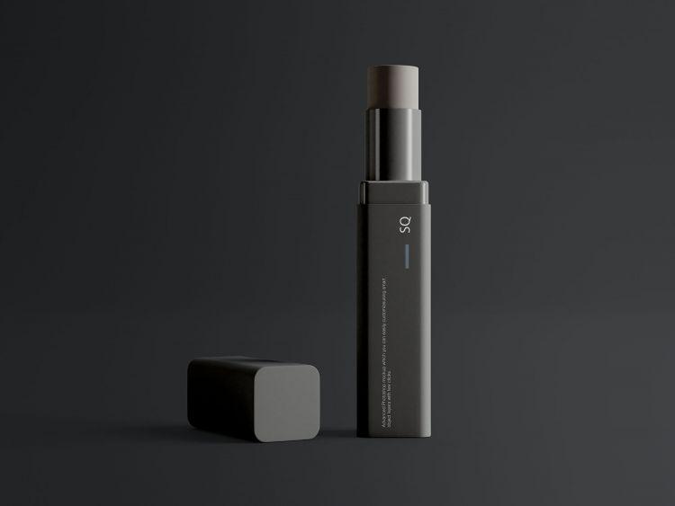 Cosmetics Lip Balm Free Mockup