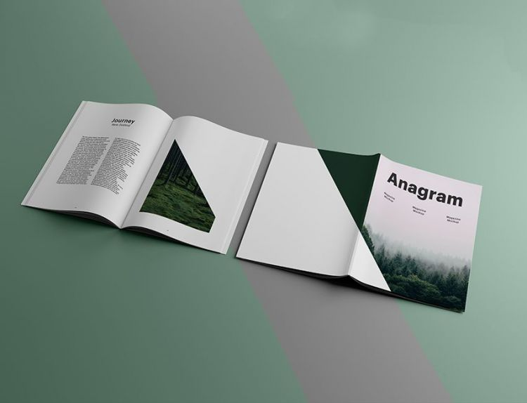 Cover and Inside Pages Magazine Free Mockup