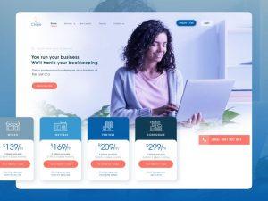 Crape Bookkeeping Landing Page Free XD