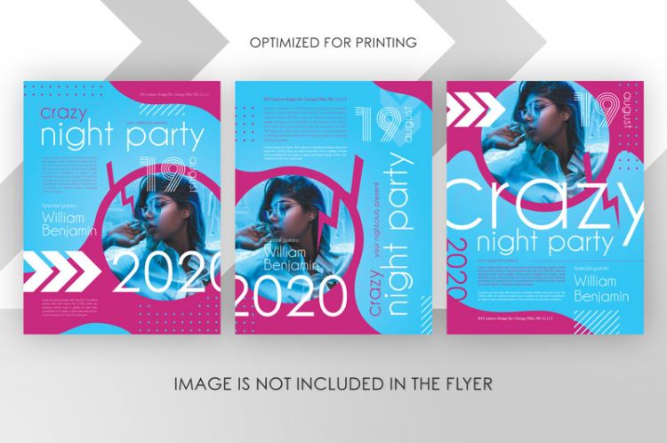 Crazy Party Free Flyer Template (PSD)