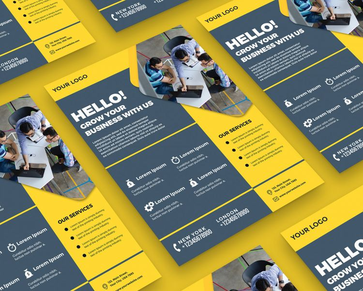 Creative Agency Free Flyer Template (PSD)