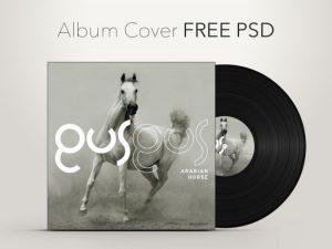 Creative CD Album Cover Free PSD Template