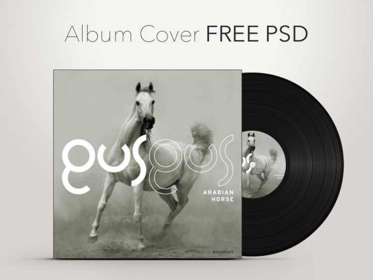 Creative CD Album Cover Free PSD Template