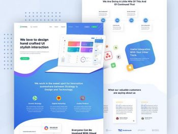 Creative Home Page Free Web PSD Template