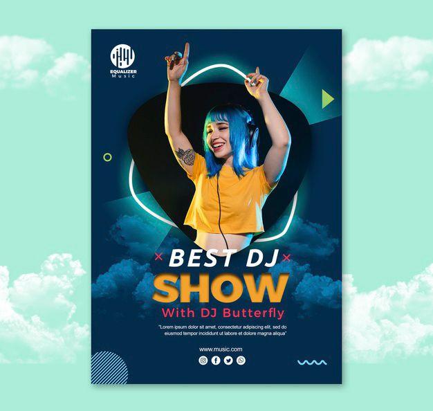 DJ Show Free PSD Flyer Template