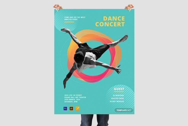Dance Festival Free PSD Poster Template