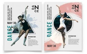 Dance - Minimal Free PSD Flyer Template