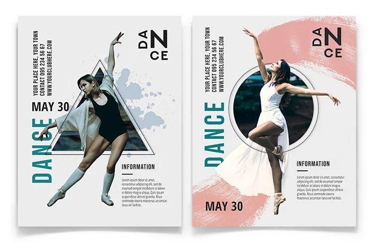 Dance - Minimal Free PSD Flyer Template