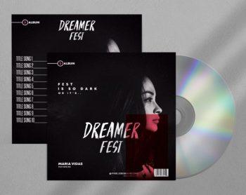 Dark Fest Free CD Cover PSD Template