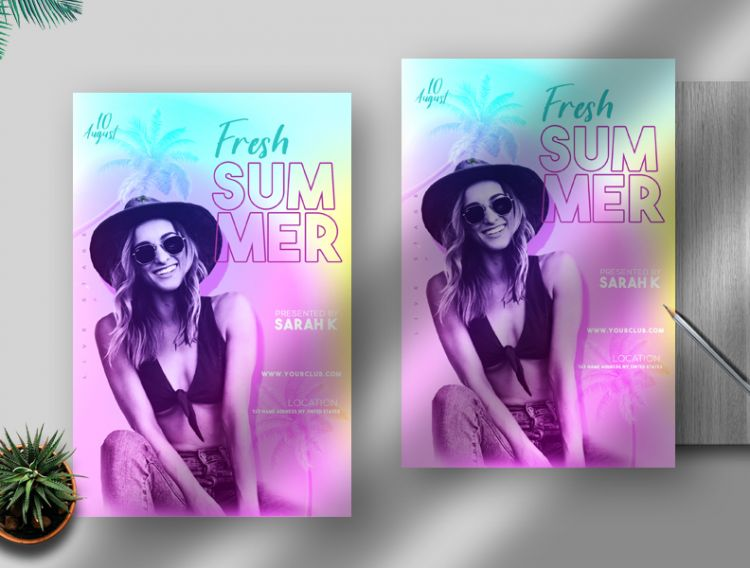 Day Party Free Summer Flyer Template (PSD)