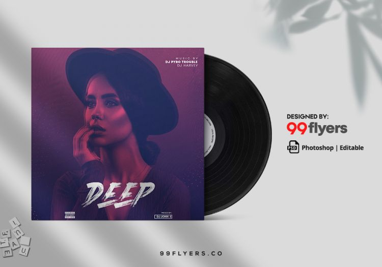 Deep - Free RnB CD/Mixtape Cover Template (PSD)