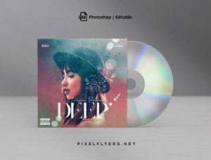 Deep Sound Free Mixtape CD Cover Template (PSD)