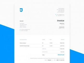 Designer Invoice Free Template