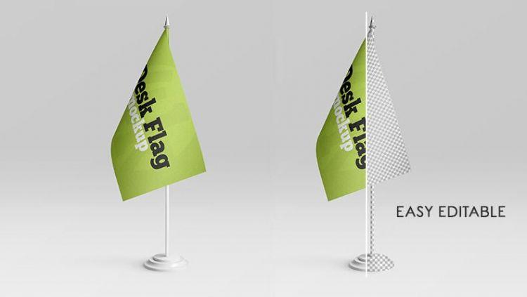 Desk Flag Free Mockup