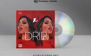 Drip It Free Mixtape CD Cover Template (PSD)