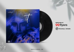 Drop Music Free Mixtape CD Cover Template (PSD)