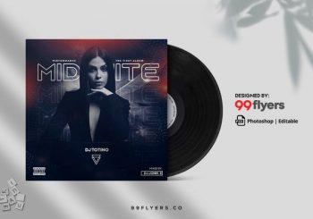 EDM & Music Free Mixtape CD Cover Template (PSD)
