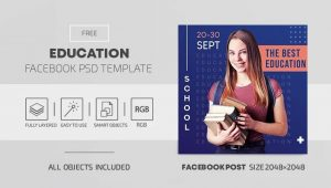 Education Free Facebook Cover & Post (PSD)