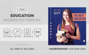 Education Free Facebook Cover &Post (PSD)