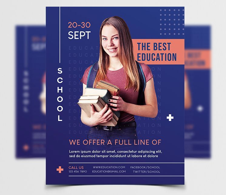 Education Students Free Flyer Template (PSD)