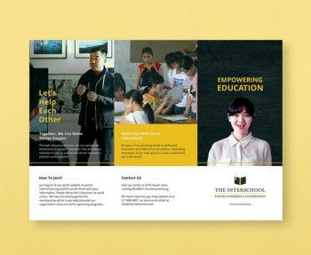 Education Tri-Fold Brochure Template (PSD)