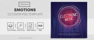 Electronic Music Free CD Mixtape (PSD)
