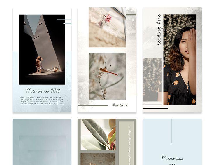 Elegant Ad Free Instagram Story Set (PSD)