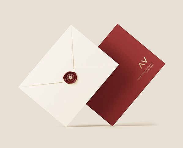Elegant Envelope Free Mockup