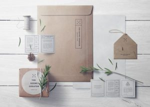 Envelope, Flyer, Branch, Card Scene Creator Free Mockup