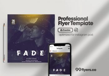 Fade Party Freebie Event Flyer Template (PSD)
