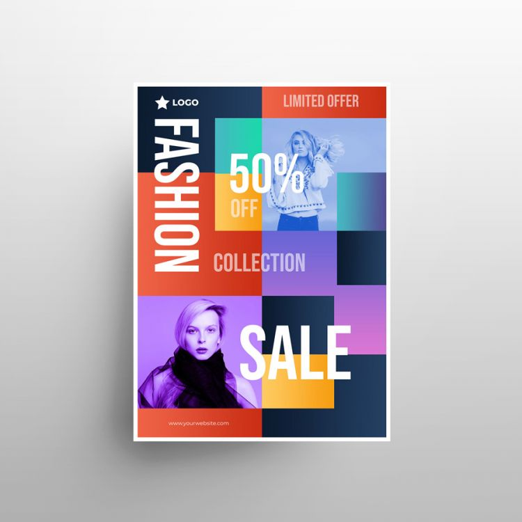 Fashion Apparel Sale Free Flyer Template (PSD)