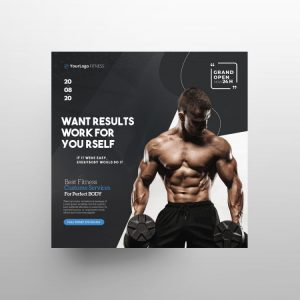 Fitness Ad Free Flyer Template (PSD)