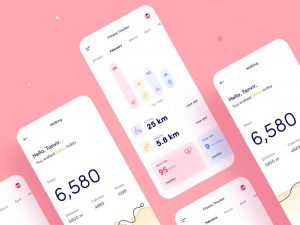 Fitness Tracker App Free UI Design