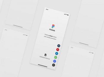 Floating Share Button Free Figma UI