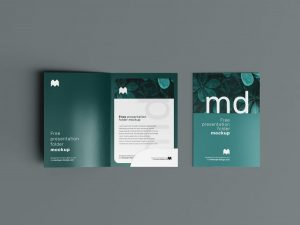 Folder Presentation Free Mockup